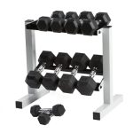 Cap Barbell Rubber Hex Dumbbell Set