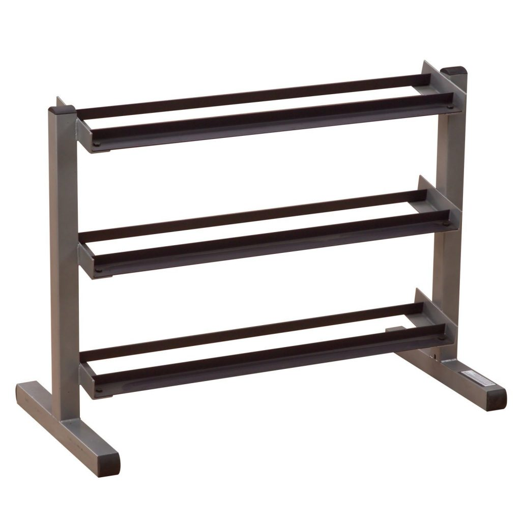 body solid 3 tier horizontal dumbbell rack